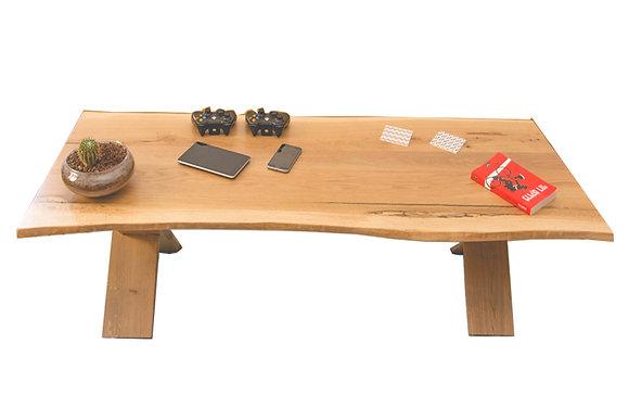 שולחן גזע עץ אלון