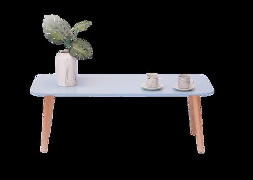 שולחן קפה מלבן תכלת