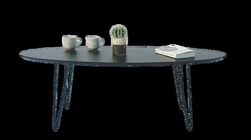 שולחן אובלי שחור