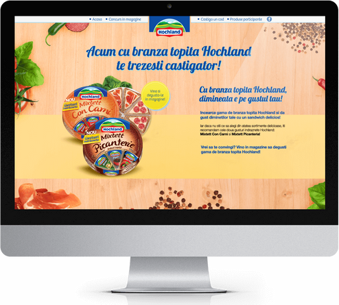 Win with Hochland melted cheese 1