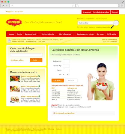 Maggi Brand Website 4
