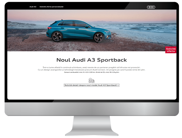Users of the internet meet Audi A3 2