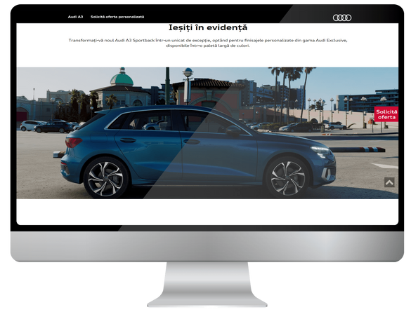 Users of the internet meet Audi A3 5