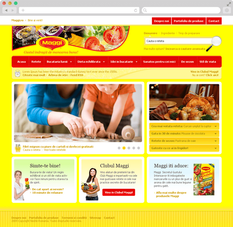 Maggi Brand Website 2