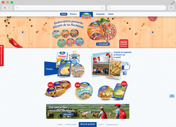 Hochland website launch 3