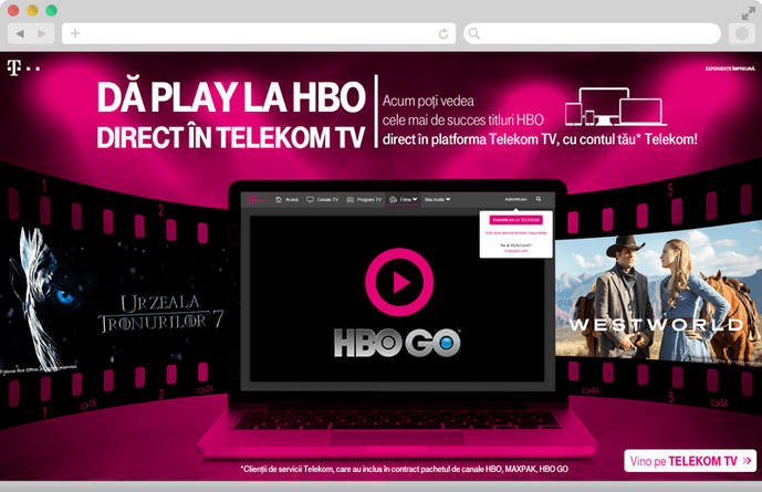 Telekom campaign in collaboration with HBO 1