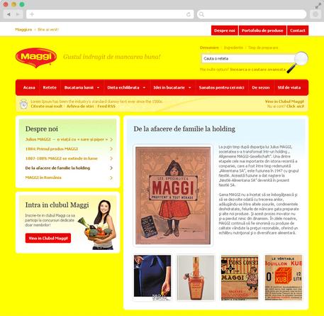 Maggi Brand Website 5
