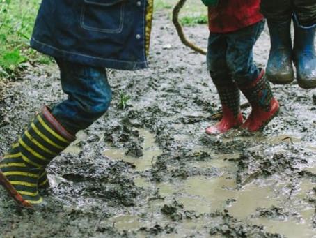 Rain + Mud = Puddle Jumping!