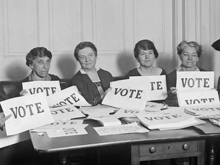 Today is the 100th Anniversary of Women's Right to Vote