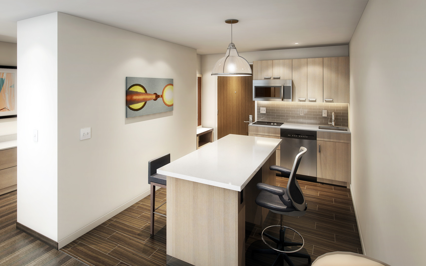 Hyatt House King Studio Guest Kitchen.jp