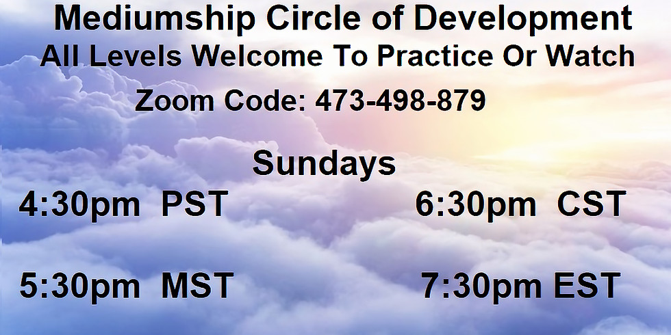 Mediumship Circle of Development Online Zoom (1)