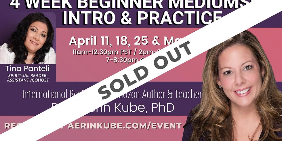 April Beginner Mediumship Intro Coaching and Practice