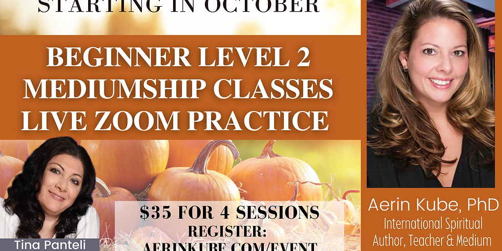 Sundays in OCTOBER. - 4 Sessions Zoom - Level 2 Practice Class