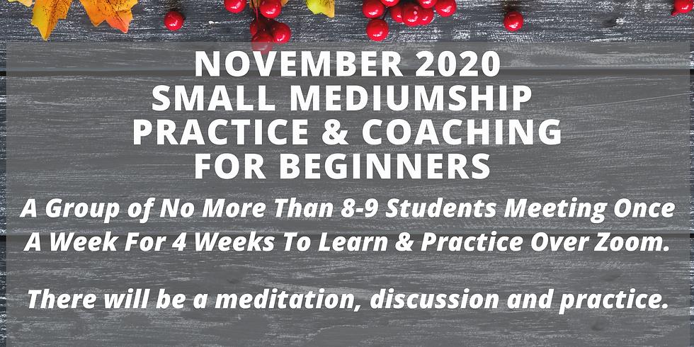 Tuesday 4pm-5:30pm Mediumship Coaching