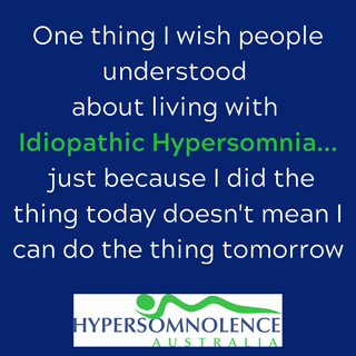 One thing I wish people would understand about living with Idiopathic Hypersomnia