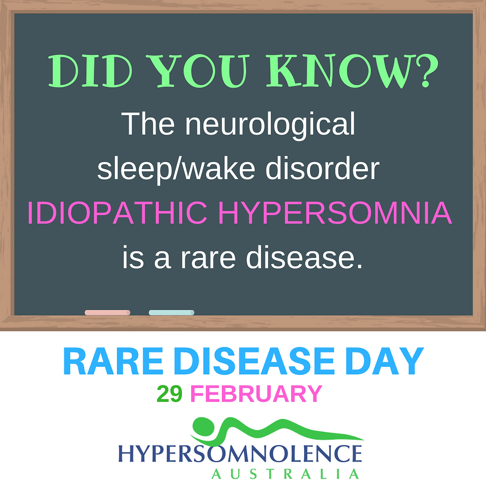 Did you know Idiopathic Hypersomnia is a rare disease? Rare Disease Day.