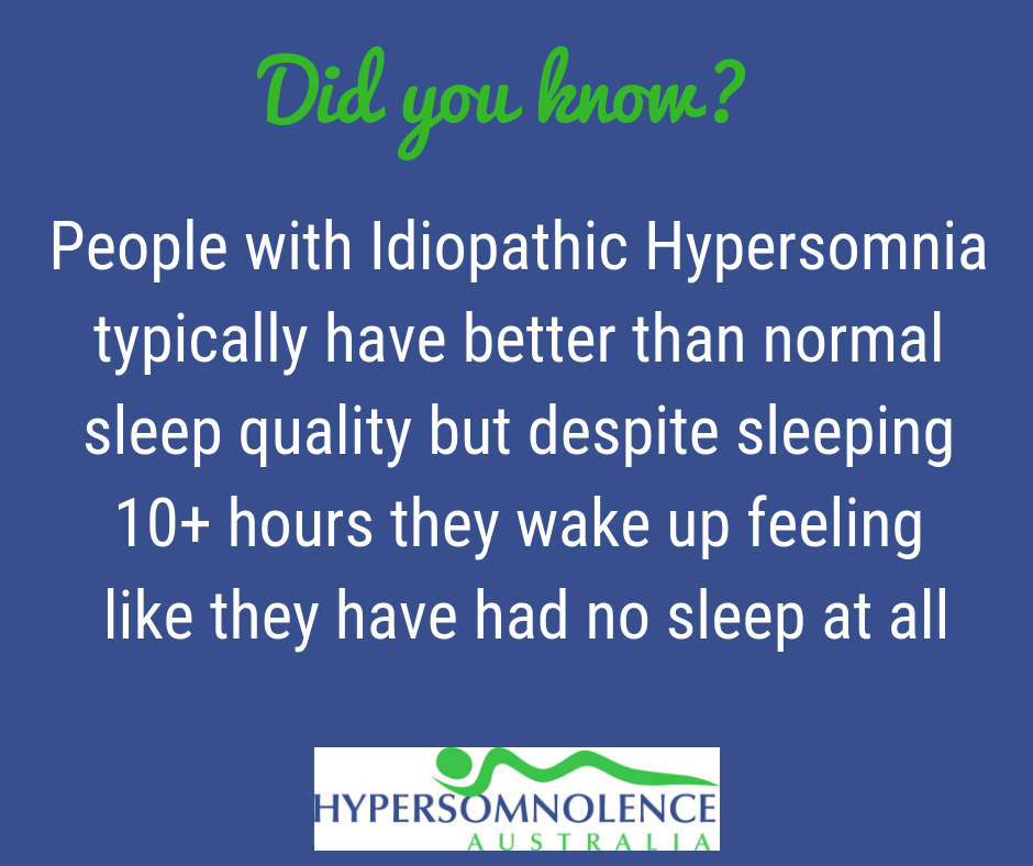 Did you know people with Idiopathic Hypersomnia really do sleep excessively?