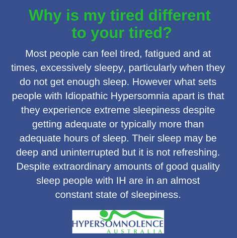 Why my tired is different to your tired.