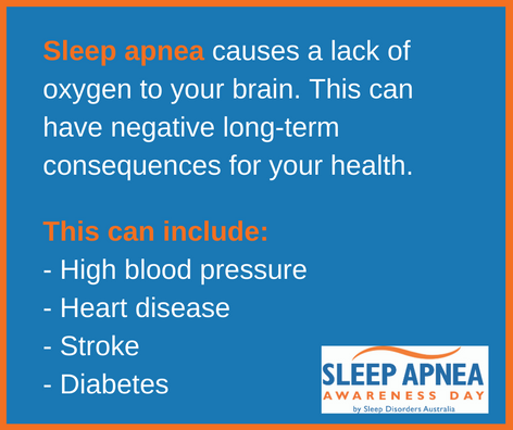 Sleep Apnea causes a lack of oxygen to your brain