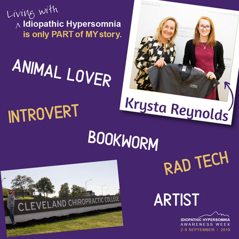 My name is Krysta. I am 19. I live in the US. Living with Idiopathic Hypersomnia is only part of my story.