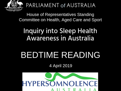 Bedtime Reading - a summary of the Australian Parliamentary report into sleep health