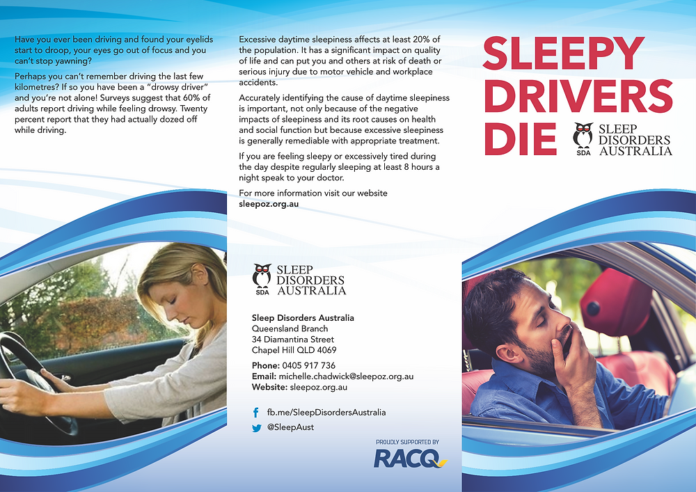 Click here to download a pdf copy of the Sleepy Drivers Die brochure