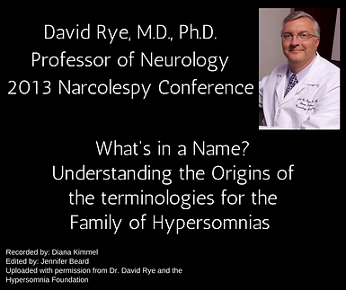 What's in a name? Understanding the origins of the terminologies for the family of hypersomnias
