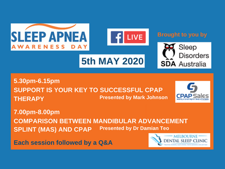 Sleep Apnea Awareness Day Facebook Live Events