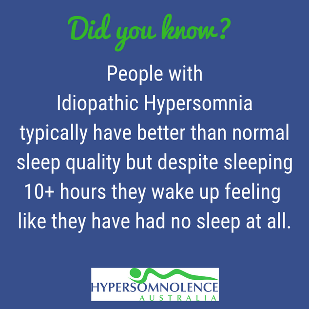 Idiopathic Hypersomnia, Did you know?
