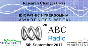 Idiopathic Hypersomnia Awareness Week on ABC Radio