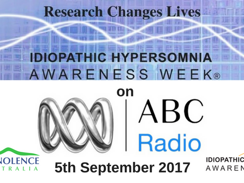 Idiopathic Hypersomnia Awareness Week on ABC Radio