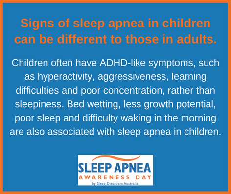 Signs of sleep apnea in children