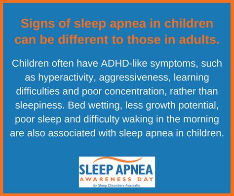 Signs of sleep apnea in children