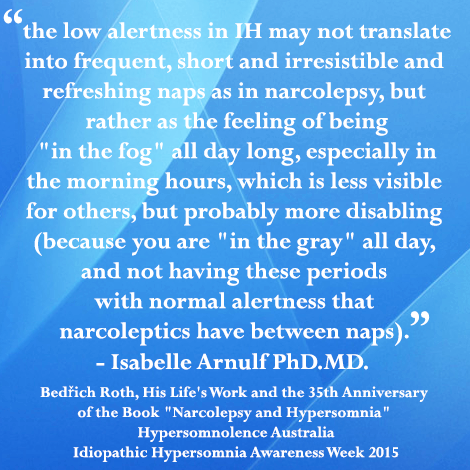 """Clinical differences in Narcolepsy and Idiopathic Hypersomnia... Bedrich Roth, His Life's Work and the 35th anniversary of the book """"Narcolepsy and Hypersomnia"""""""