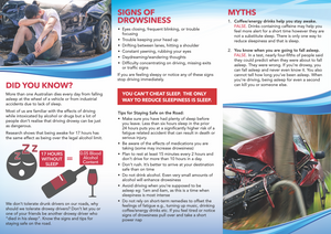 Click here to view and download the Sleepy Drivers Die brochure.