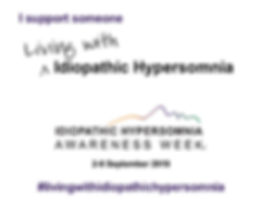 I support someone living with Idiopathic Hypersomnia