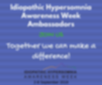 Idiopathic Hypersomnia Awareness Week Am