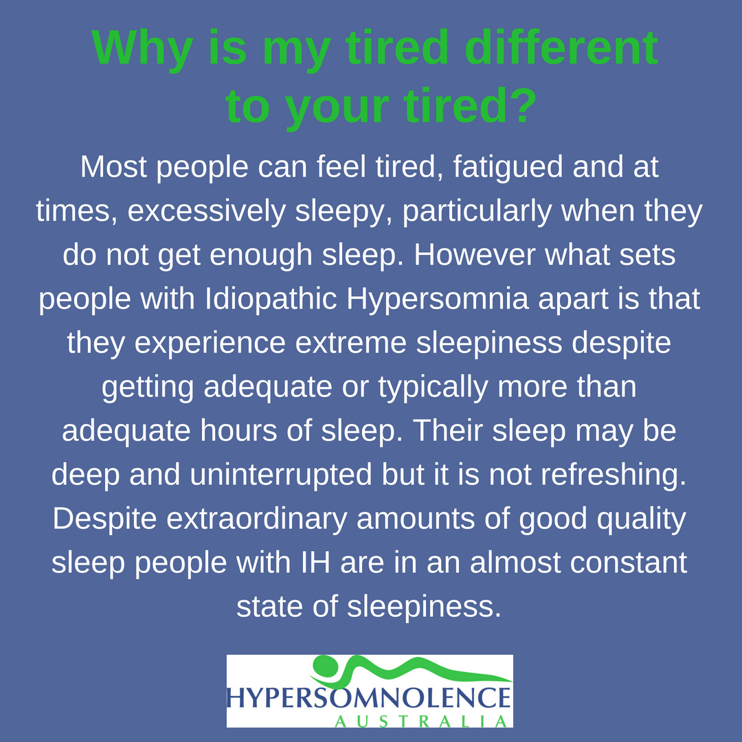 Why is my tired different to your tired