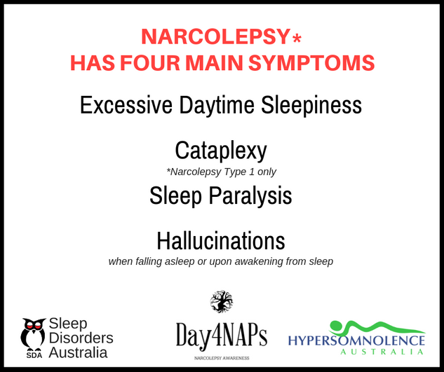 Narcolepsy - 4 main symptoms