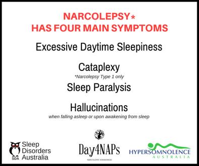 Narcolepsy - 4 main symptoms