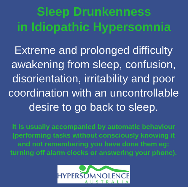 Sleep Drunkenness in Idioapthic Hypersomnia