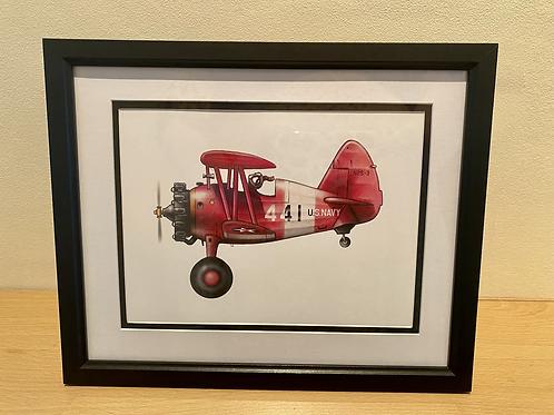 Stearman print -framed