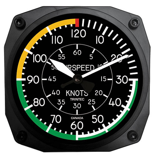 AIRSPEED CLOCK – 6 INCH