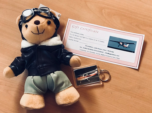 Biggles Bear and 30 Min Trial Flight in a Cessna