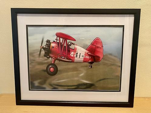 Stearman framed A4