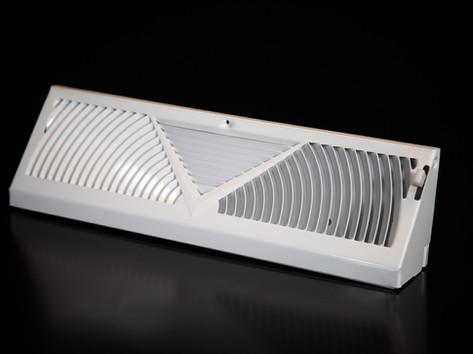 White Sunburst Baseboard Diffusers