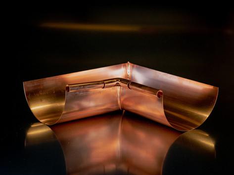 Copper Half Round Inside Miter