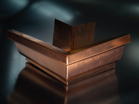 Copper K-Style Outside Miter