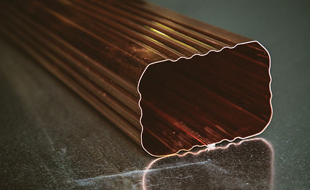 Copper Square Downspout