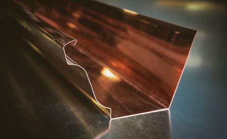 Copper K-Style Gutter